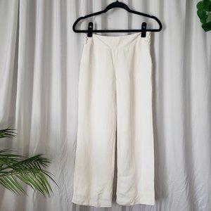 Ann Taylor Loft Petites White Crop Trousers